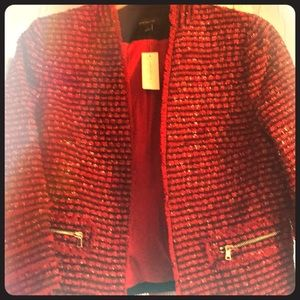 Beautiful red and black blazer from Ann Taylor